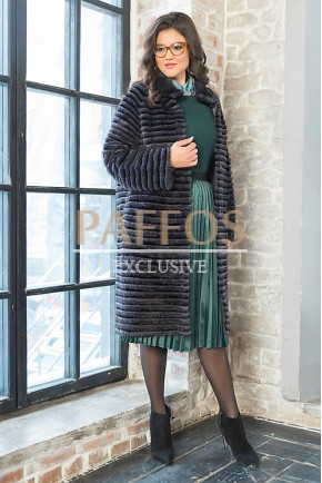 Элегантное пальто на трикотажной основе