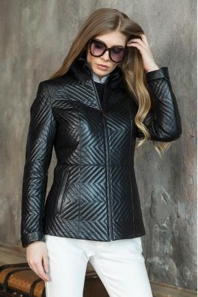 Модный кожаный пиджак с натуральным мехом