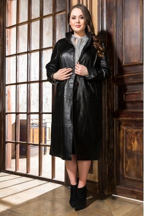 Кожаный плащ больших размеров для женщин