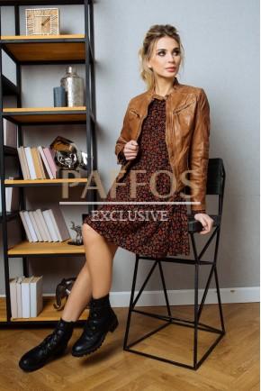 Короткая куртка из кожи Турция