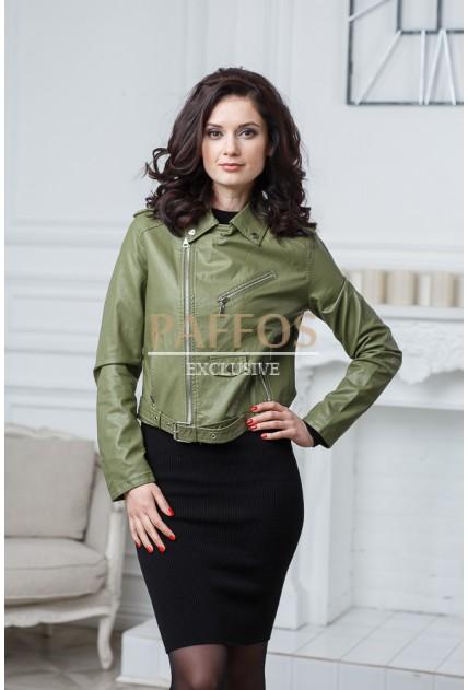 Ультрасовременная короткая женская куртка