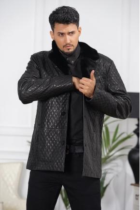 Стеганная мужская зимняя куртка