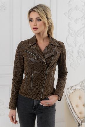 Женская леопардовая куртка