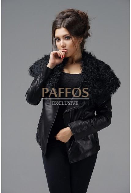 Куртка из кожи Весна-Осень 2021