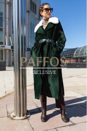 Женственное двухстороннее длинное пальто