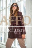 Женская куртка бордовая