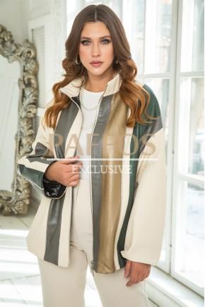 Женская удлиненная оригинальная куртка