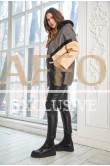 Утепленная куртка с мехом Весна-Осень 2021