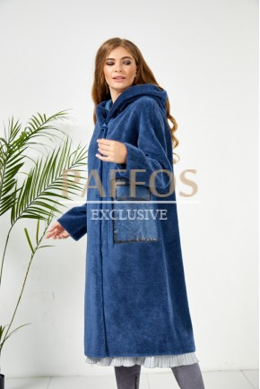 Синяя шубка Зимняя коллекция