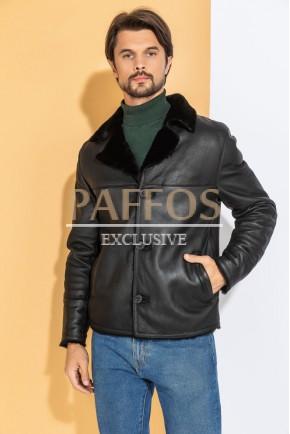 Стильный мужской пиджак-дублёнка