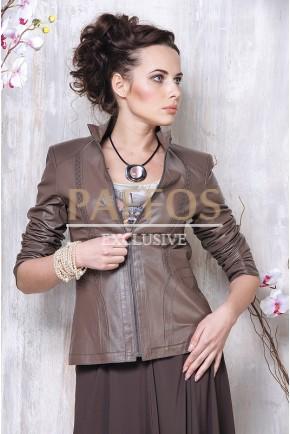 Весенняя куртка из натуральной кожи