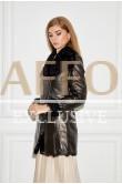 Молодежная куртка-дубленка с мехом 2020