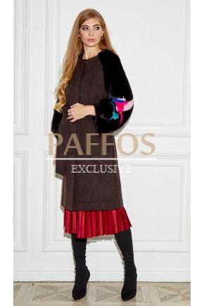 Модное пальто с норкой