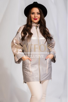 Кожаная удлиненная куртка Италия