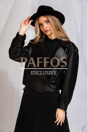 Кожаная куртка женская весна 2020