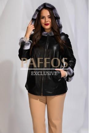 Кожаная куртка с мехом больших размеров