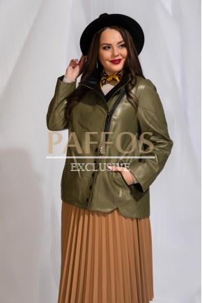 Турецкая кожаная куртка женская