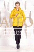 Женская куртка с вязанным рукавом