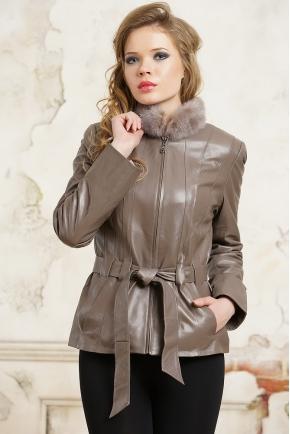 Кофейная куртка с мехом